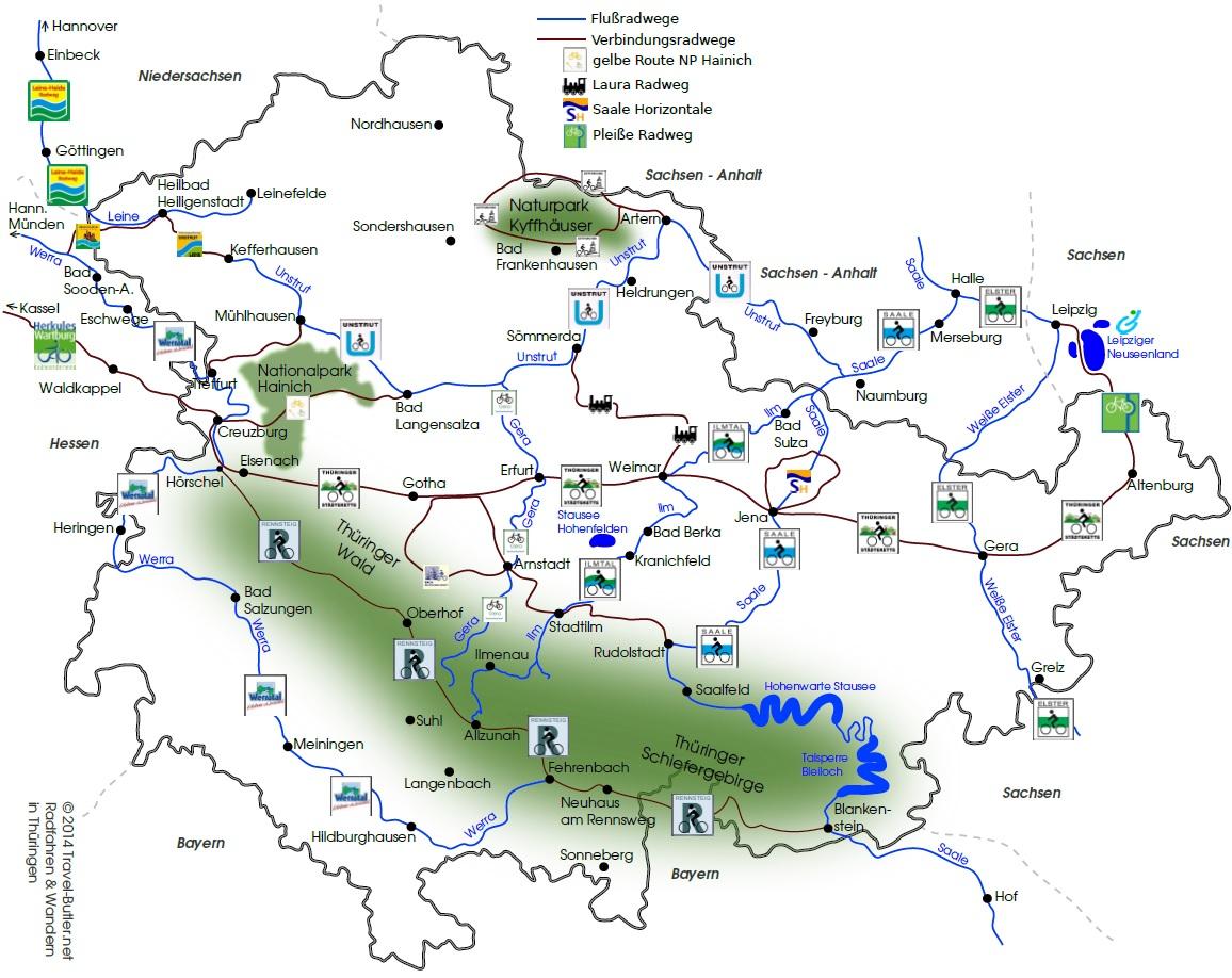 Saale Radweg Karte.Radfahren In Thuringen